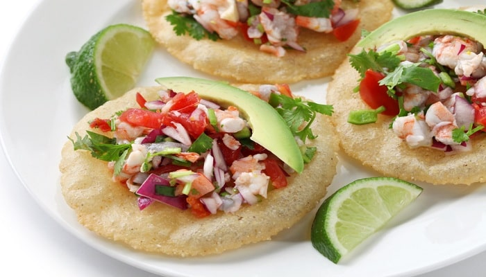 Mexican Botana: Lime, Shrimp and Avocado Salad