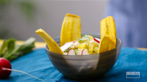 Crab Salad with Plantain Chips recipe by Cocina