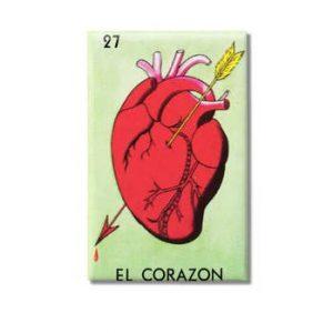 El Corazon Loteria 2×3 Magnet