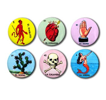Loteria Cards Set of six 1 magnets 2