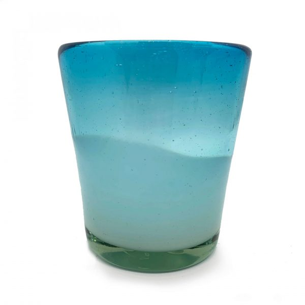 Mexican Handblown Glasses – Aqua 2