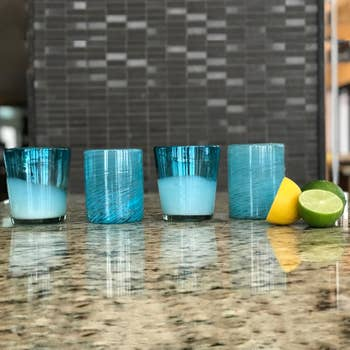 Mexican Handblown Glasses – Aqua